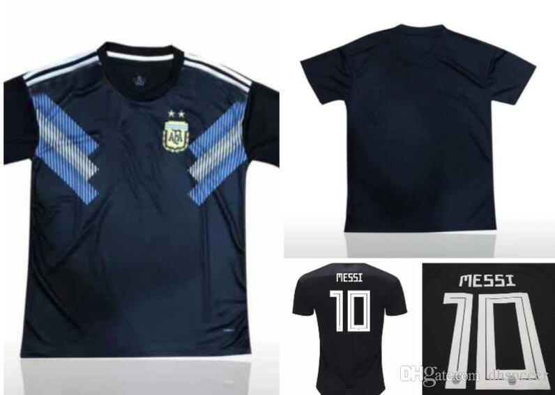 2019 2018 World Cup Argentina Soccer Jersey 2018 Argentina Away Shirt Messi  Aguero Di Maria Uniform Outdoor T Shirts From Dhsoccer 9e2ebba35