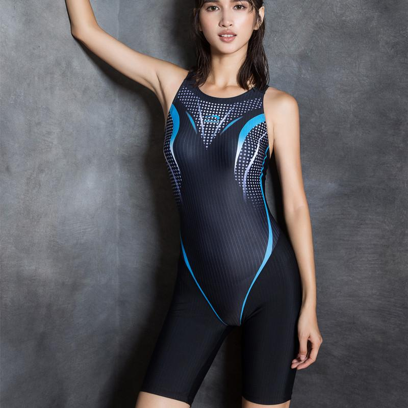 94c42f9b1a341 2019 2017 One Piece Women Swimwear Professional High Quality Sport Swimsuit  Sexy Print Nylon Plus Size Bathing Suit From Movearound