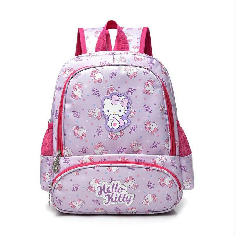 b054cb9427 2018 New Fashion Hello Kitty Girl s School Bag Cute Child Backpack ...