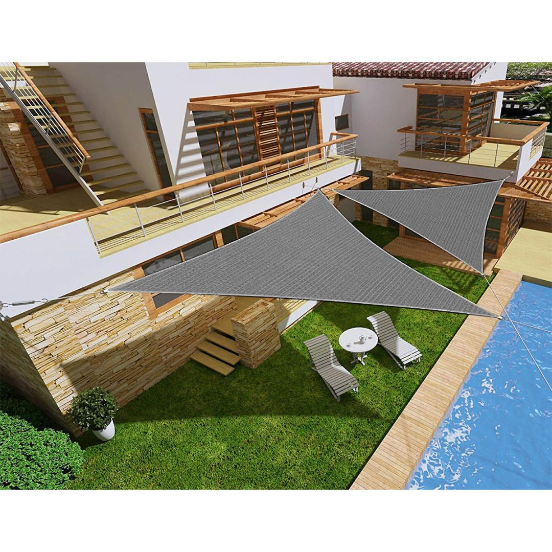 Großhandel 300d Oxford Farbic 3x3x3m Schwarzes Dreieck Garten