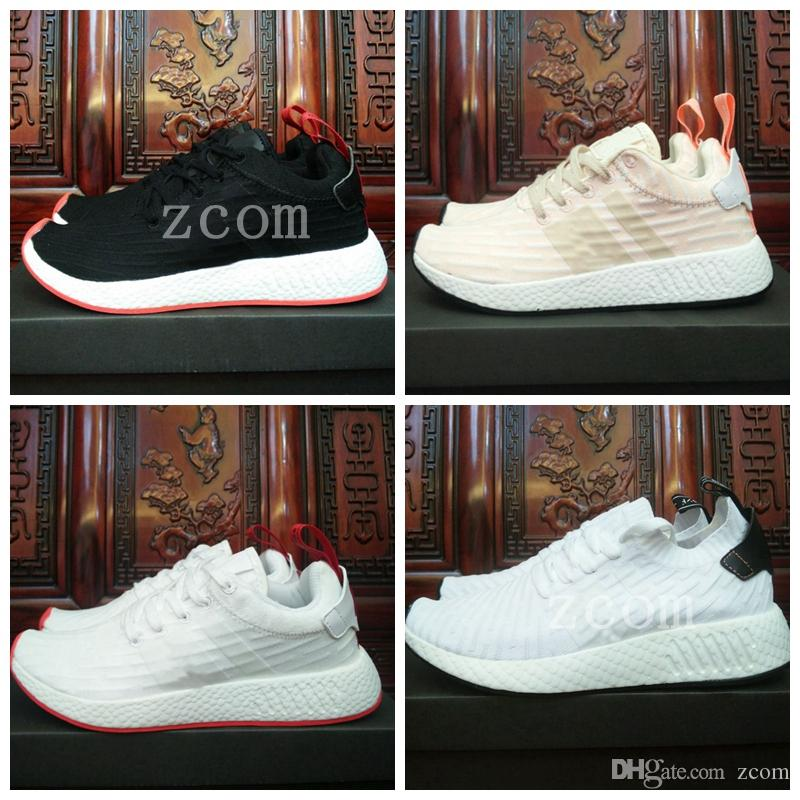48d9a0e295c3d NMD R2 Womens Men Running Shoes Nmd Runner R2 Pk Primeknit Triple White  Black Red Brand Fashion Luxury Flat Sports Designer Sneakers Walking Shoes  Trail ...