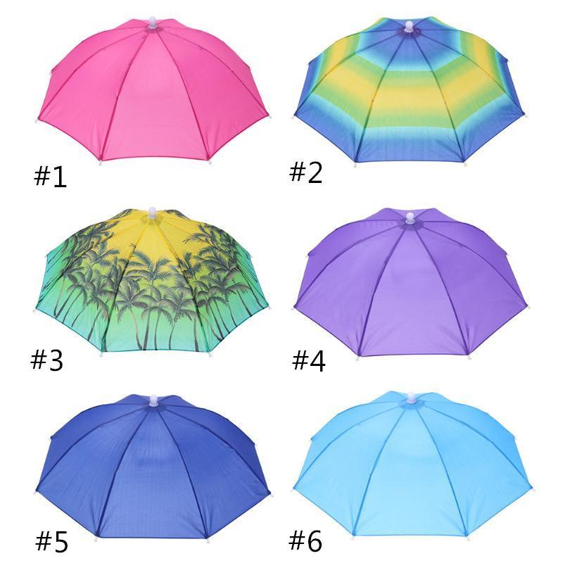 Hot Sale Folding 55cm Umbrella Hat Sun Umbrella Sun Shade Camping Fishing Hiking Festivals Outdoor Brolly