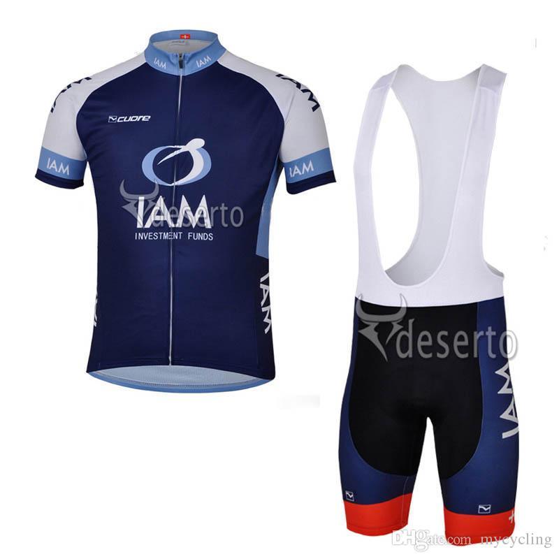 4ba176f93 100% Polyester Ropa Ciclismo 2018 Men IAM Cycling Jersey Set MTB ...