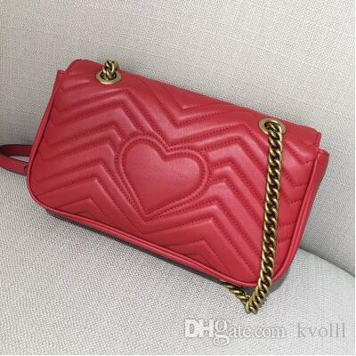 Sacchetti di spalla GI di vendita calda borse a tracolla della catena di lusso delle donne borsa famosa del messaggio femminile di alta qualità borsa del progettista # 75