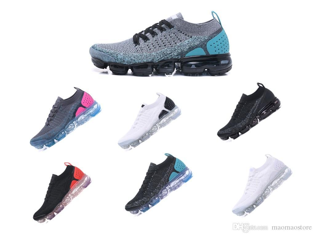 new style 4df78 e7c5b Großhandel Nike Air VaporMax Flyknit 2 Günstige Herren Vp 2 Designer Schuhe  Chaussures VP Plus 2018 Sport Trainer Frauen Va Airs Schuhgrößen Eur 36 45  Von ...