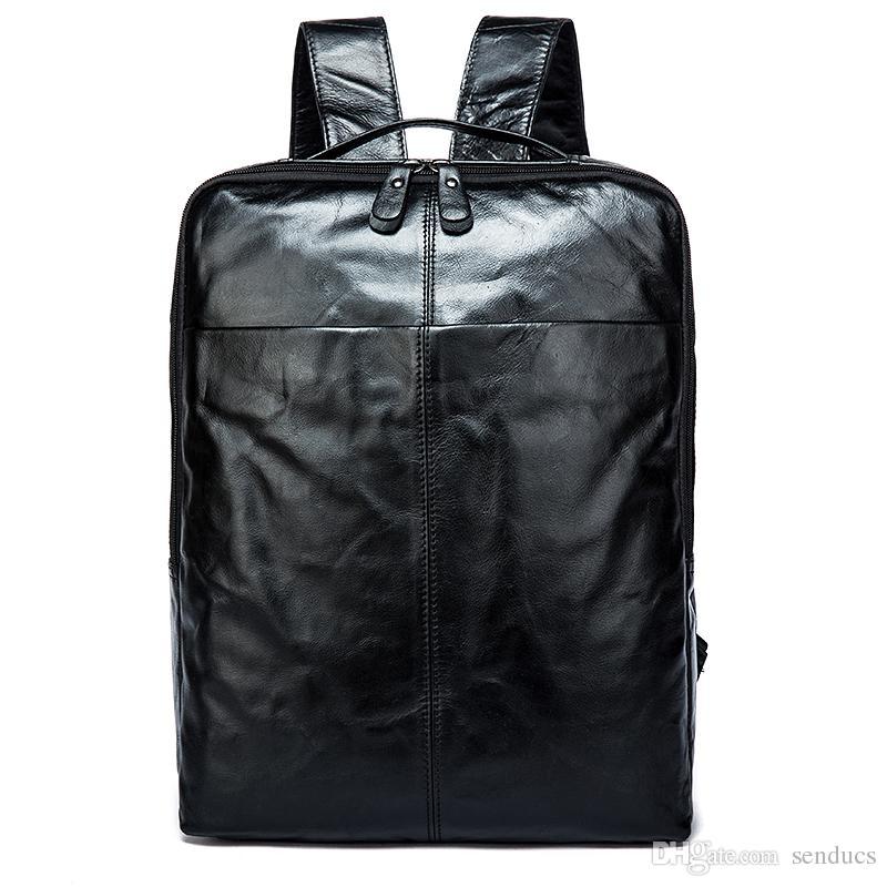e35859b999a7 New Brand Designer Men Genuine Leather Backpack Crazy Horse Vintage ...