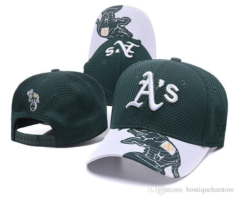 2018 New Men S Athletics Golf Visor Mesh Snapback Hat In Green Color With  A S Letter Logo Embroidery Sport Adjustable Flat Baseball Hats Embroidered  Hats ... 7347509c52e