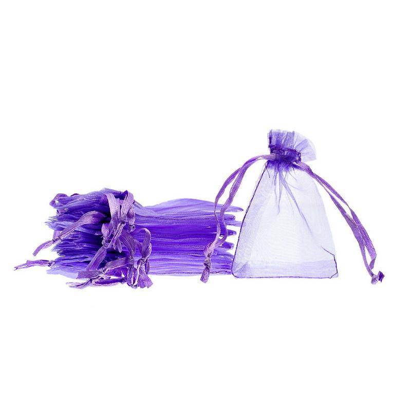 LASPERAL multi colore piccolo organza sacchetti regalo Oganza sacchetto con coulisse gioielli imballaggio di stoccaggio sacchetto dell'involucro del regalo 5x7 cm