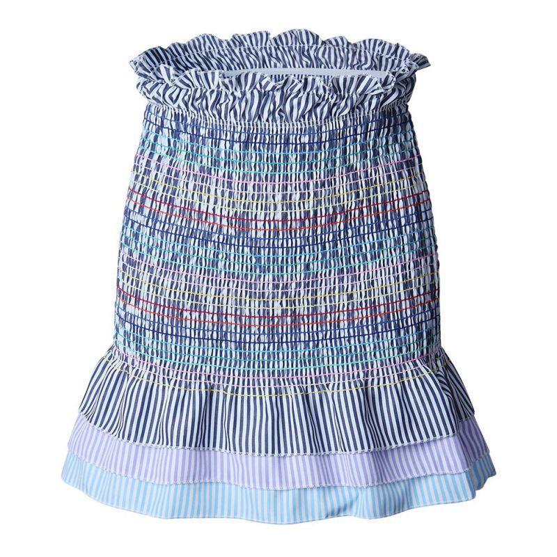 2d9b186cae9d 2019 Rainbow Ruffle Pleated Skirt Women 2018 Summer Hot Mini Striped Skirt  Slim Bodycon High Waist Skirts Sexy Club Wear From Ario, $38.48 | DHgate.Com