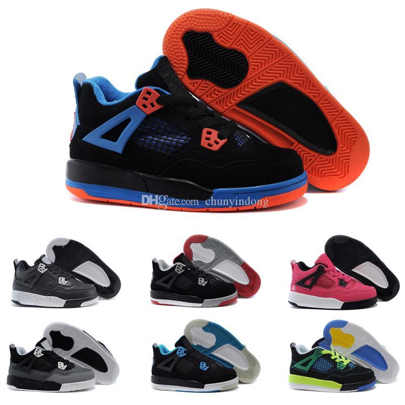 brand new 410ed cc685 Compre Nike Air Jordan 4 13 Retro Venda Online Barato Novo 13 Crianças Tênis  De Basquete Para Meninos Meninas Tênis Crianças Babys 13 S Tênis De Corrida  ...