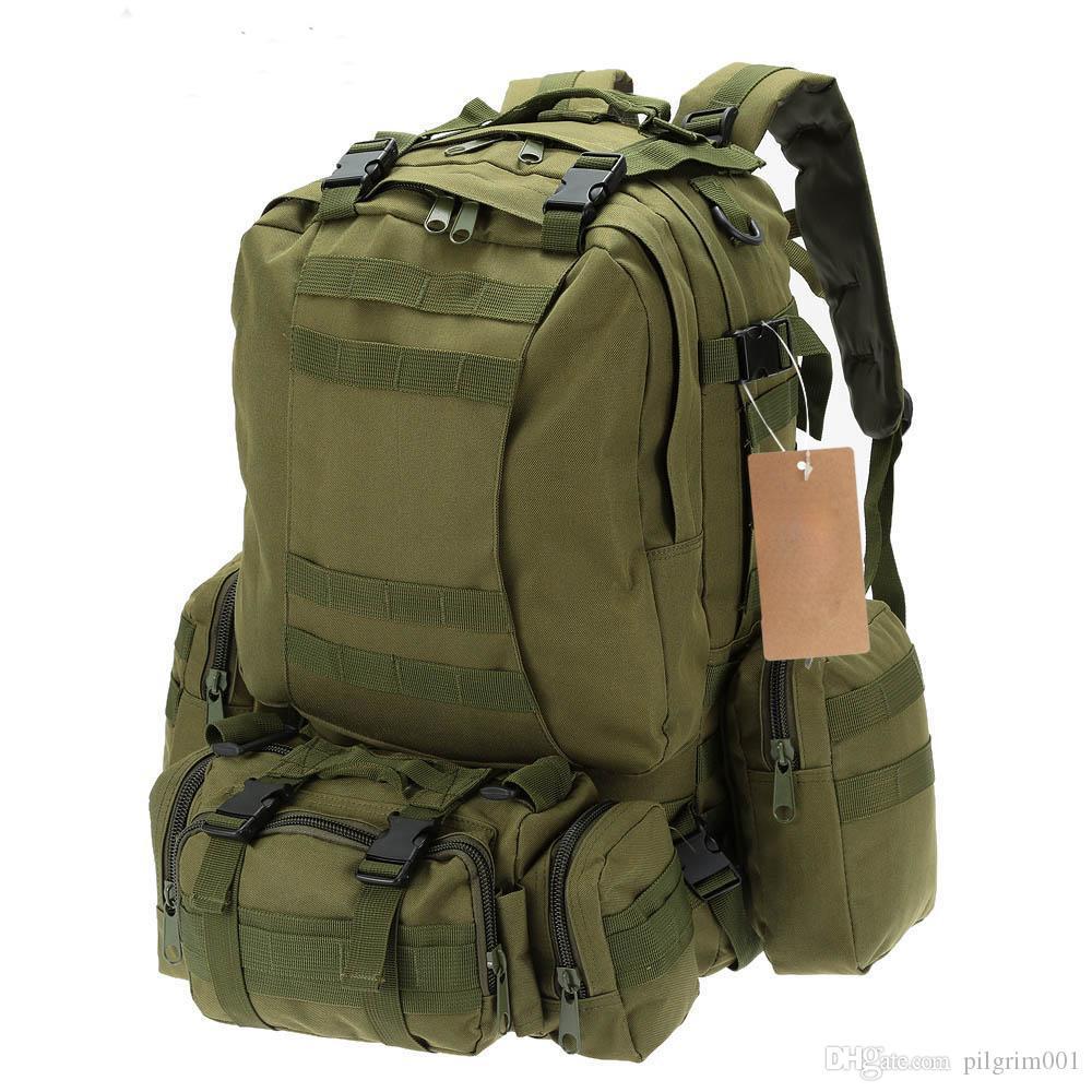 041869d901 50L Outdoor Molle Tactical Backpack Rucksack Luxury Handbags Hiking ...