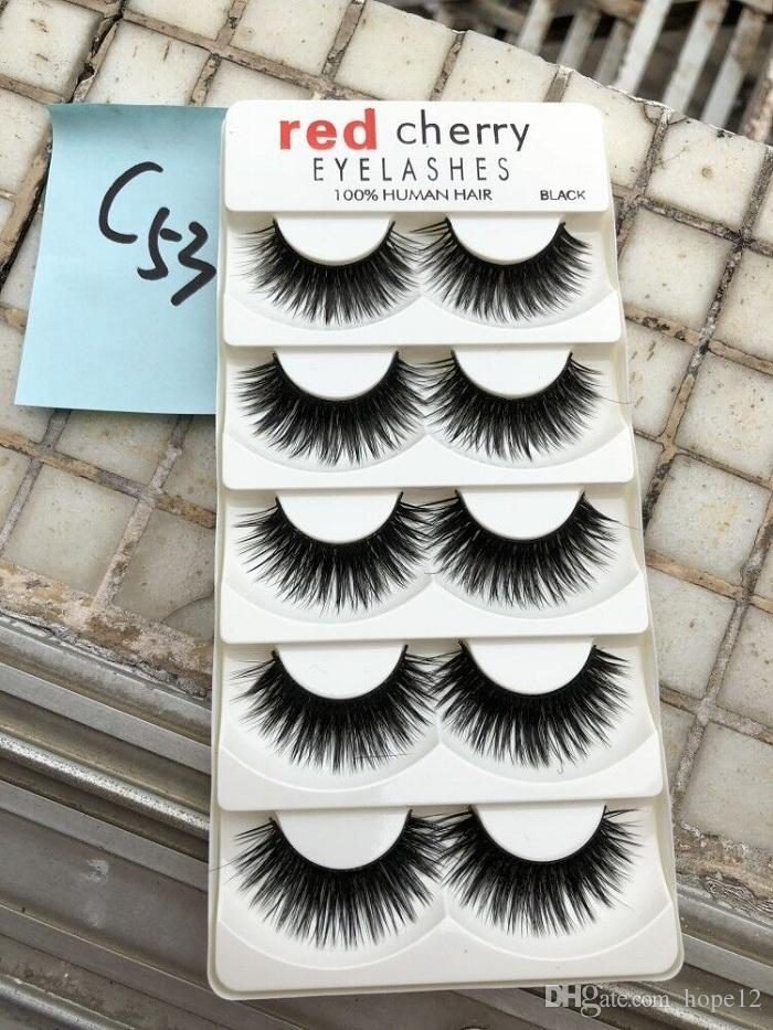 335514dd5ed RED CHERRY False Eyelashes Natural Long Eye Lashes Extension Makeup  Professional Faux Eyelash Winged Fake Lashes Wispies Long Eyelashes  Novalash From Hope12 ...