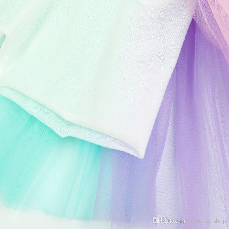 Girl Birthday Rainbow Tutu Skirt Baby Girls Toddler Party Outfit Skirt girls tulle skirt baby tutu Dress tutu dress