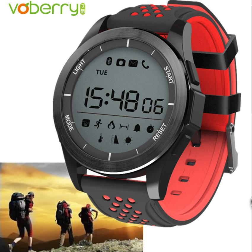 VOBERRY Hot Luminous Smart Watch Altitude Meter Thermometer IP68 Waterproof  Pedometer Outdoor Sports Watch For Android IOS Smartwatch 360 Withings Smart  ...