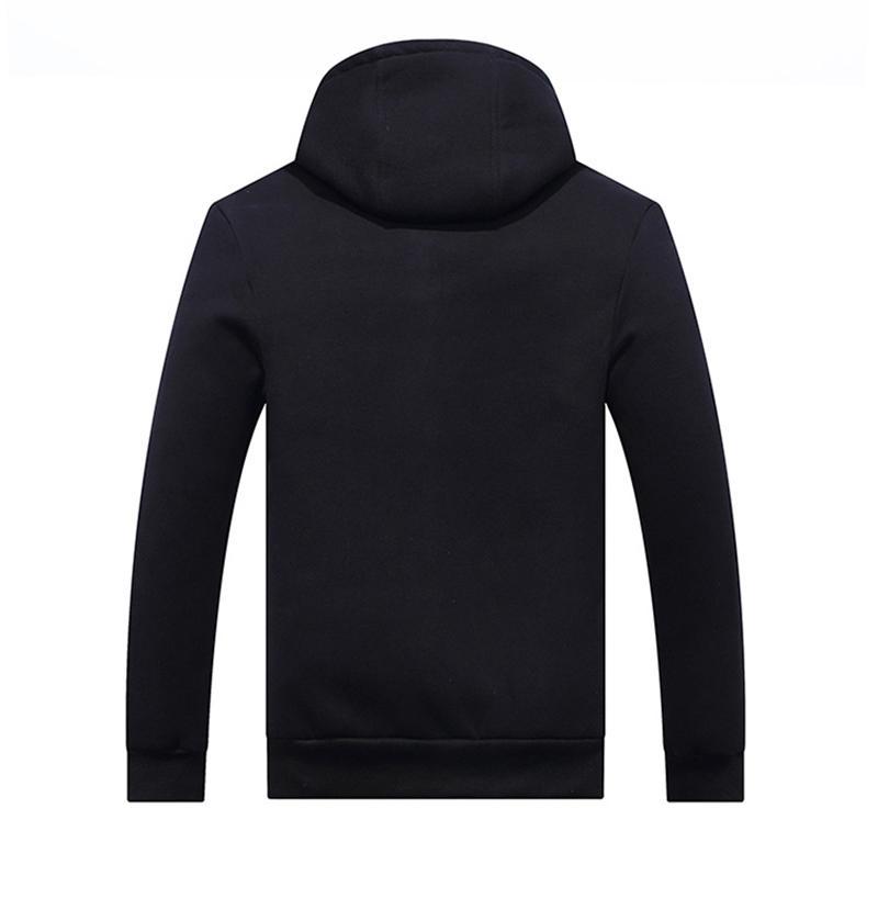 Men Fleece Jacket Hoodie Zipper Sherpa Lined Sweatshirt Fashion Warm Winter Men Clothes Outerwear Coat Plus Asian Size L XL XXL 3XL 4XL