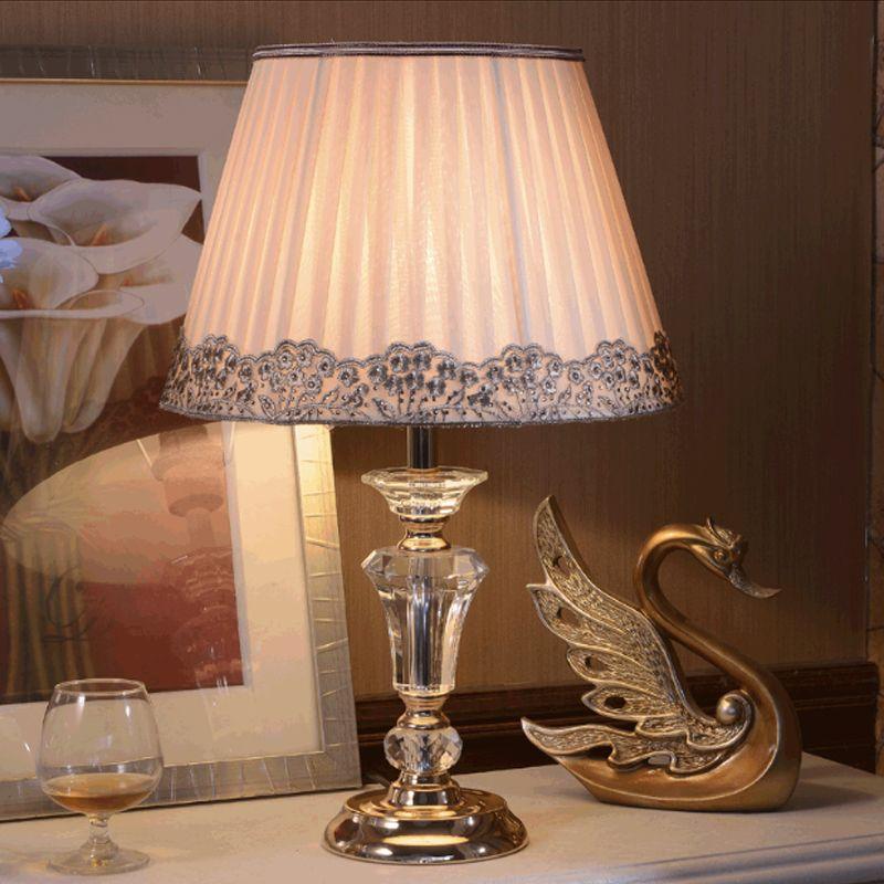2018 european modern living room table lamps bedroom study cloth art