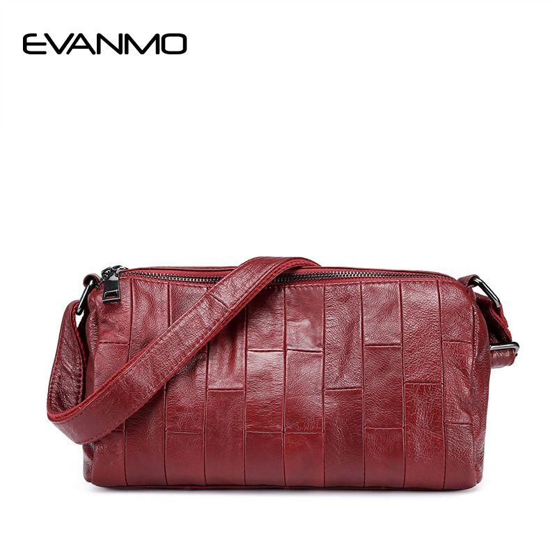 e6d9ec0785ff Women Soft Genuine Leather Messenger Bags Cow Leather Daily Shoulder Bag  Women Crossbody Bag Ladies High Quality Cowhide Handbag Leather Bags  Designer ...