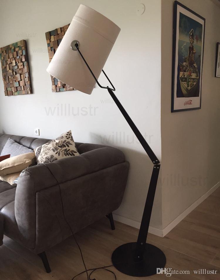 Acheter LED Moderne Fork Éclairage Au Sol Abat Jour En Tissu Toile  Lampadaire LED Éclairage Salon Salon Étude Hôtel Canapé Lumière Bureau  Latéral De ...