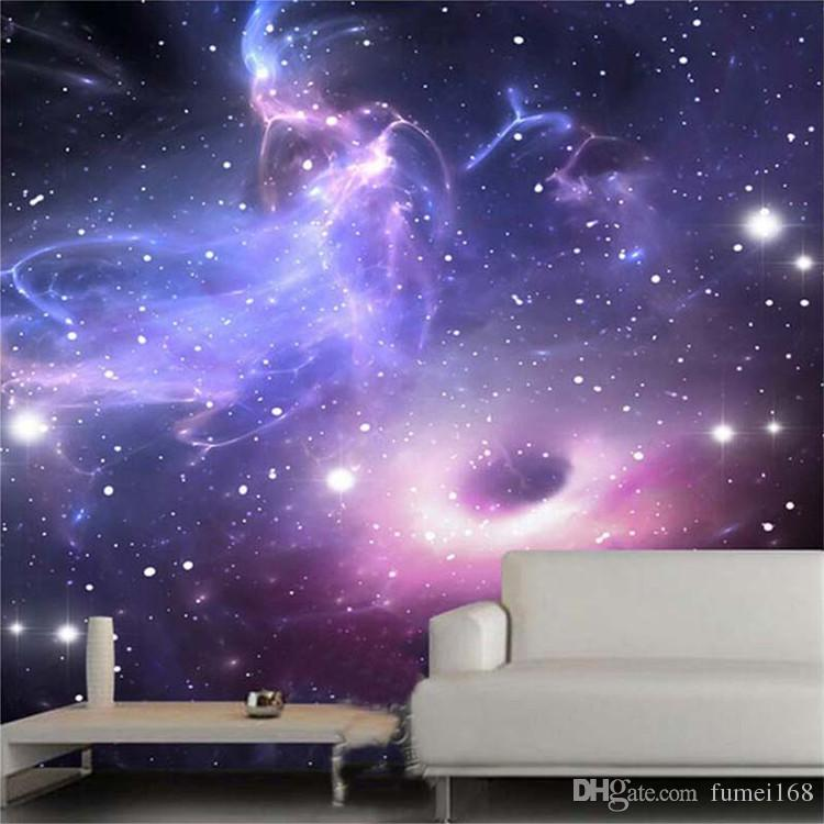 Custom 3D Stereoscopic Universe Stars Galaxy Ceiling Mural