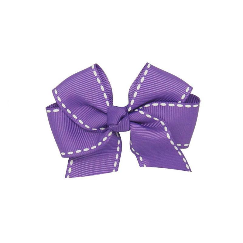 3'' Hair Bows Kids Child Handmade Grosgrain Ribbon Bows Hair clip With Striped For Girls Hair Accessories