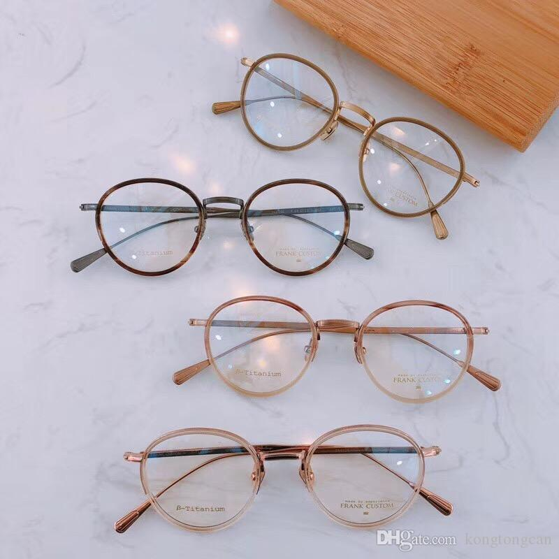 78b9d8557f1 2019 Vintage Retro Frank Custom FA6138 Eyeglasses Pure Titanium Acetate  Frame Women Man Brand Design Original Box And Case Prescription Lens From  ...