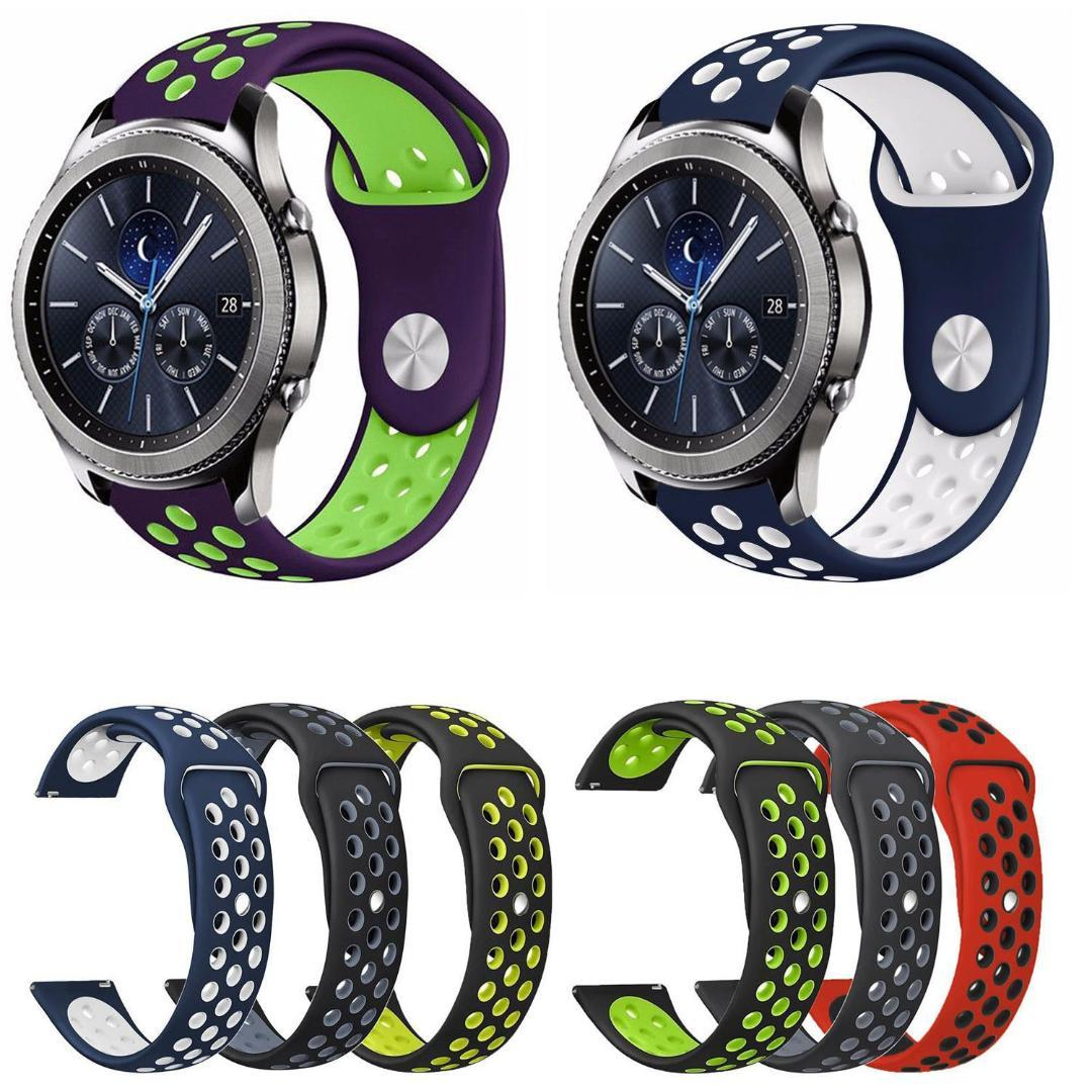 40b76b155 Dual Colors Silicone Sport Band For Samsung Gear S2 Classic Strap  Breathable Bracelet For Samsung Gear Sport Watch Band 20mm Watch Straps For  Sale Buy Watch ...