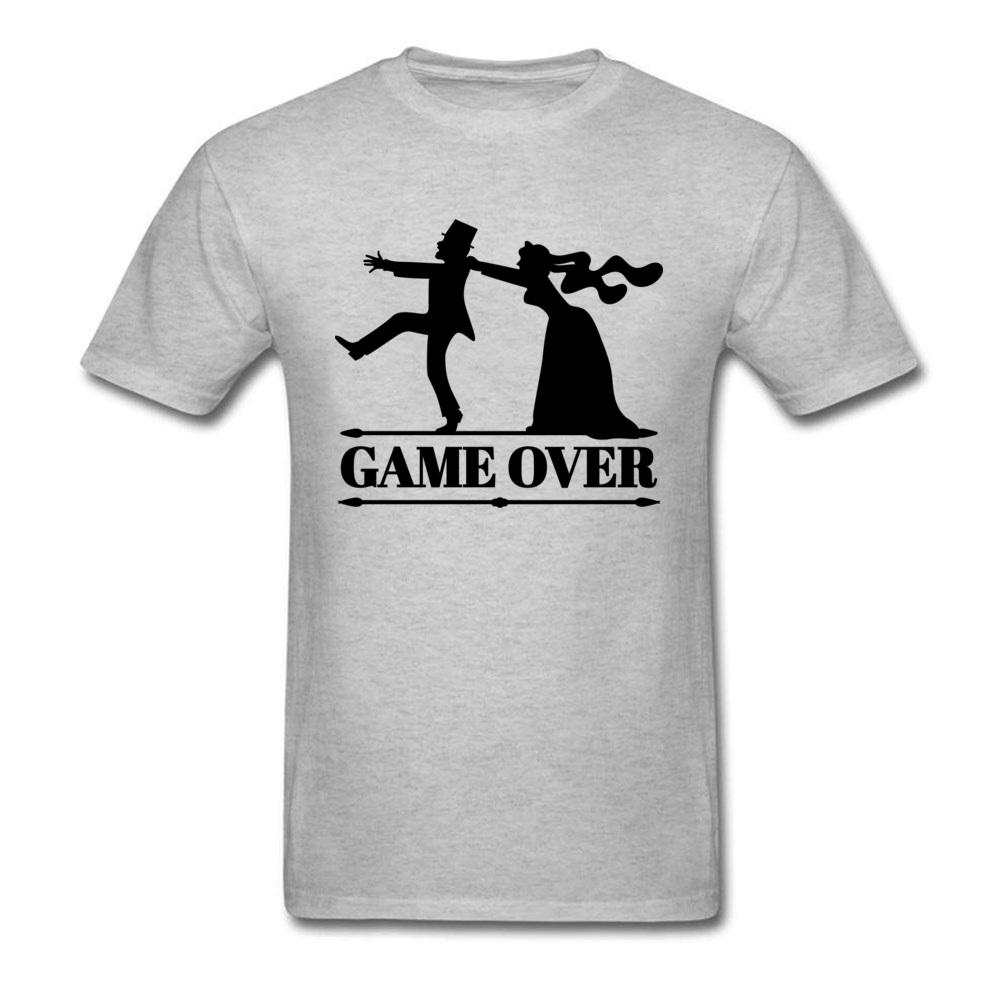 bb7caefc Game Over Tee Men Bride Top Groom Bachelor Clothing Funny Bachelorette  Party T Shirts Grey Tshirt Summer Husband T Shirt Tee Shirt Deals Online  Shopping Tee ...