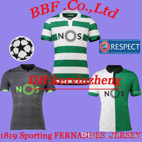 2871463c18 Cheap Thailand 2018 2019 Sporting Clube De Lisbon Soccer Jerseys FERNANDES  CARVALHO DOST MARTINS ACUNA Customize Camisas De Futebol Football Shirt