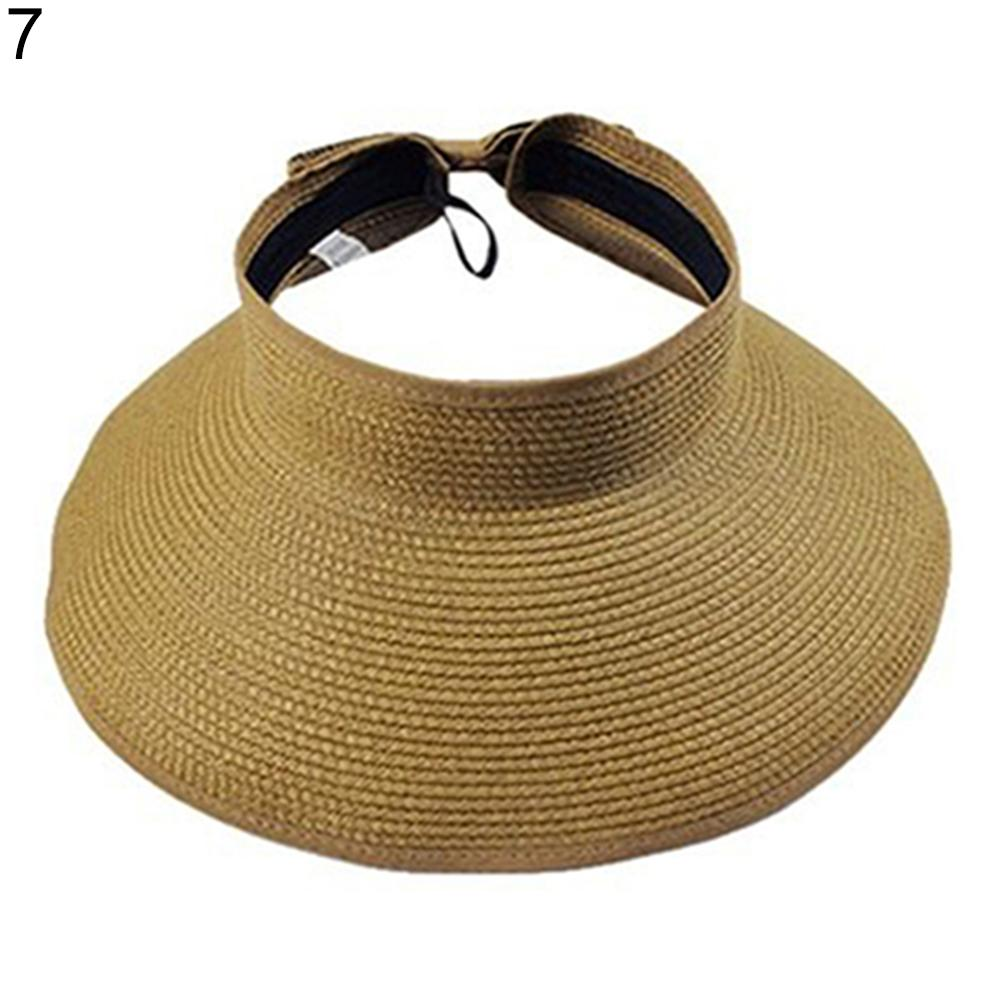 2018 Hot Sale Women Summer Hat Wide Big Brim Roll Up Foldable Sun Beach  Straw Braid Visor Ladies Shade Caps Leisure Trilby Hat Top Hats From  Juemin bd023838dab