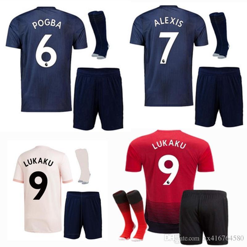 c0e52e42bf4 18 19 POGBA Kids Soccer Jerseys 2018 2019 Football Shirt ALEXIS ...