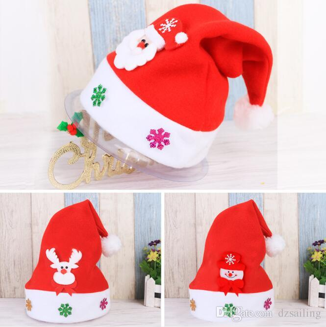 ac165bbf0d8 Christmas Cap Santa Snowman Christmas Gifts Kids Toy Home Decoration Party  Prop DHC0038 Christmas Festival Products House Christmas Decorations House  Decor ...