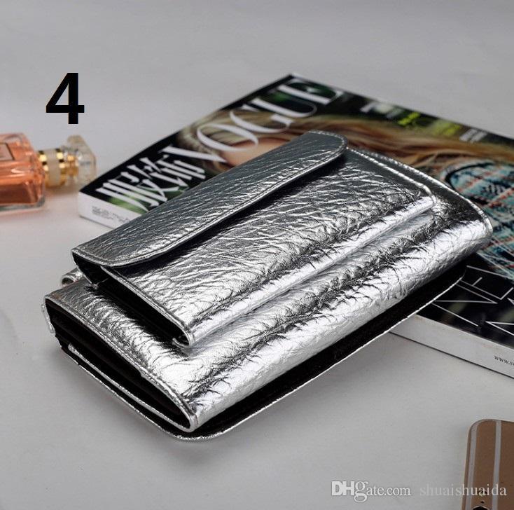 Pequeno. Carteira de couro da mulher. Mini Couro macio. Longo. Cartão de crédito. Portadores de Carteiras. Bolsa zero. Bolsa. Bolsa de celular. A4
