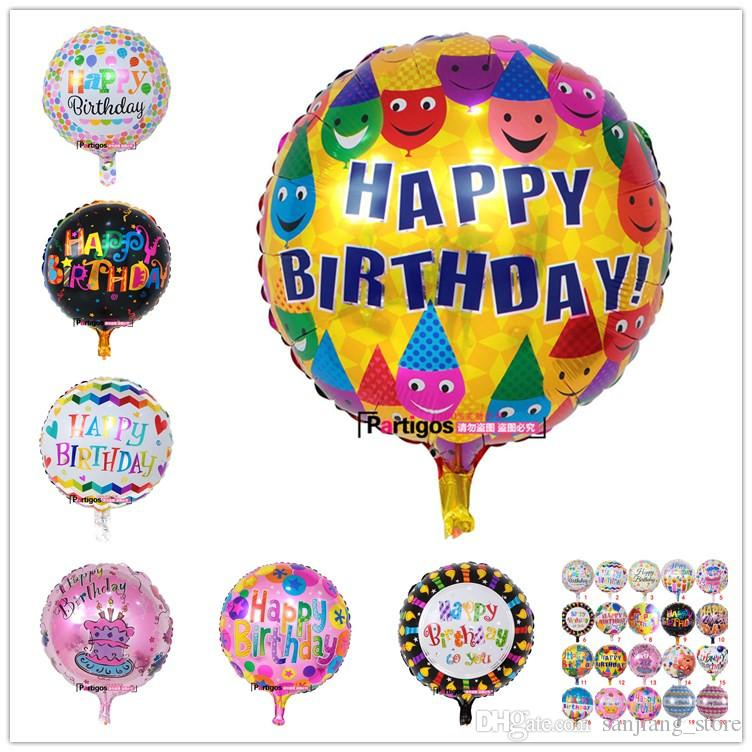 18 Inch Inflatable Air Ballons Helium Balloon Multi Colors 12g Happy Birthday Decorations Foil Balloons For Kids Wholesale Hot Party Favor Supplies 18th