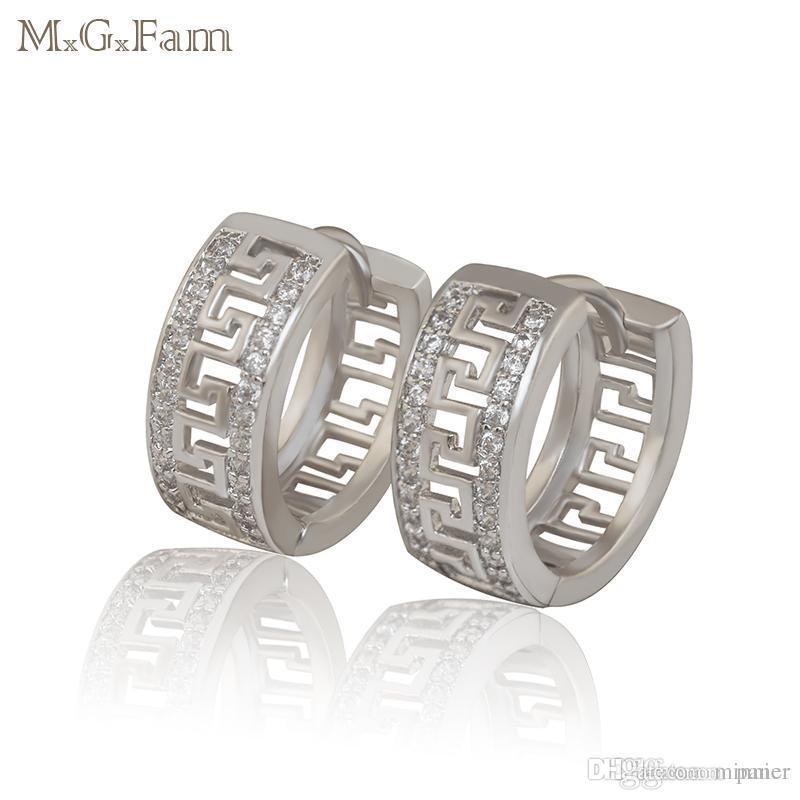 0eba884b1 Wholesale- M.G.Fam 2017 New Hoop Earrings Jewelry Women White Gold ...