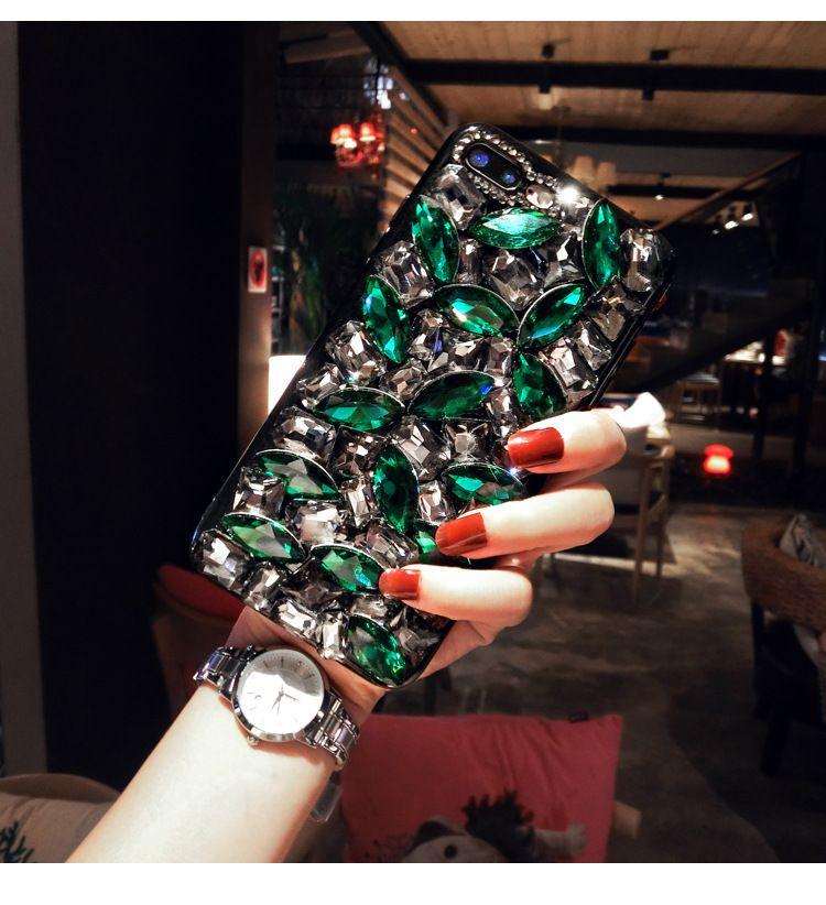 Bling Luxury Full Diamond Back Cover Glitter Shinning Rhinestone Phone Case Stylish Shimmering Shell for iPhone XS Max XR 7 Samsung S9 Plus