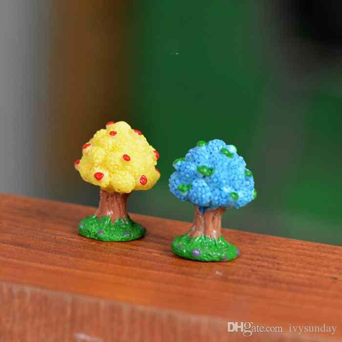 Micro Landscape Moss Ecological Bottle Decoration Mini Apple Tree Desktop Accessory Small Ornament Toy Resin Craft Fairy Garden DIY Material
