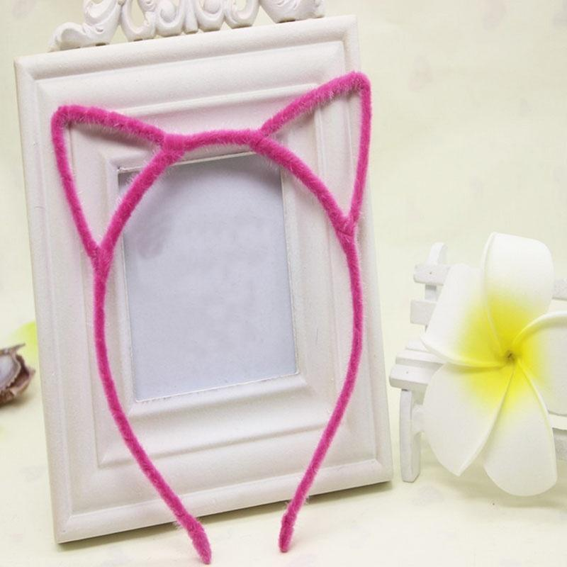Fashion Hot Lady Coloful Cat Ear Headband Hair Accessories for Women and Girls Cat's Ear Hairband Hairstyles Women 2018