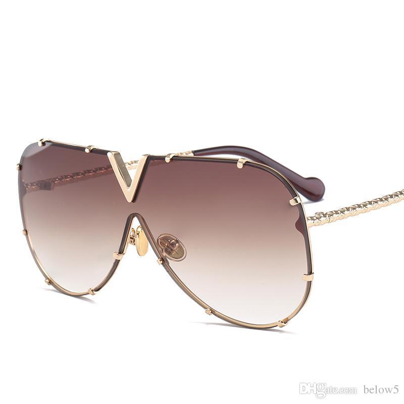 d161f8ec6e 2018 Vintage Mirrored Rimless Sunglasses Polygon Metal Gold Fashion Big  Lens Sunglasses Men Women COOL Eyewear Sunglasses Rimless Sunglasses  Vintage ...