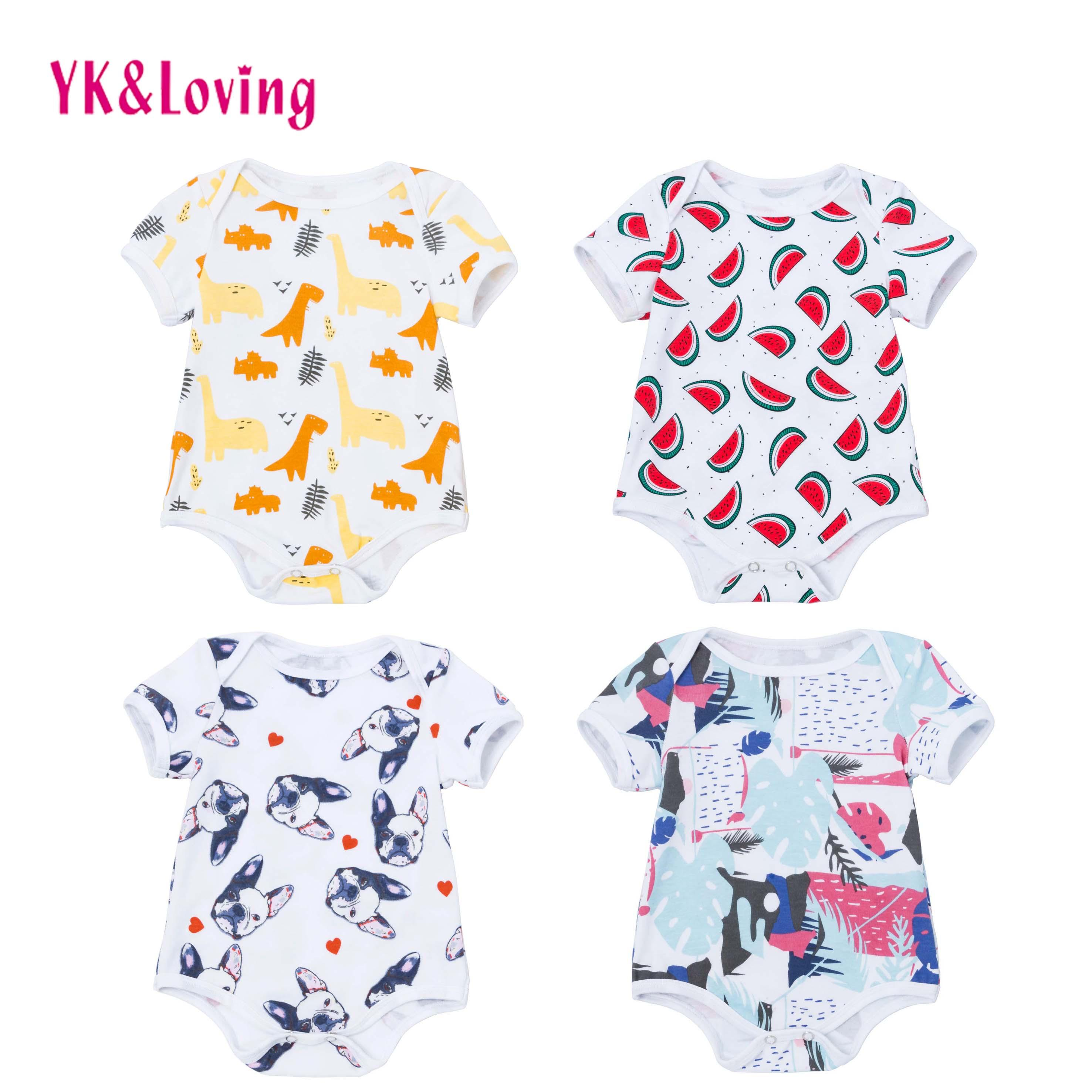 c8966696b Newborn Baby Rompers Cotton Short Sleeve Jumpsuit Boy Girls Clothing ...