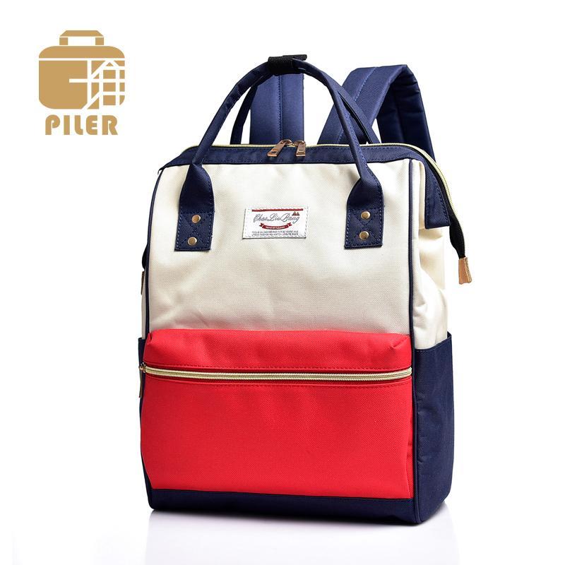 2018 Large Capacity Nylon Backpack Women Preppy School Bag Teenage Girls  Travel Students Waterproof Rucksacks Fashion Canvas Bag Black Backpack  Camera ... 0941dae757945