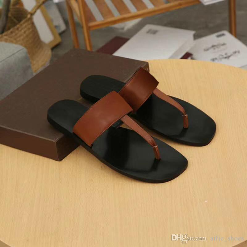 7d3f6a77212c Mens Designer Shoes Metal Chain Slippers Luxury Designer Sandals Flip Flops  Sandals Summer Slides Slippers Genuine Leather Mens Shoes W04 Boots Shoes  Green ...
