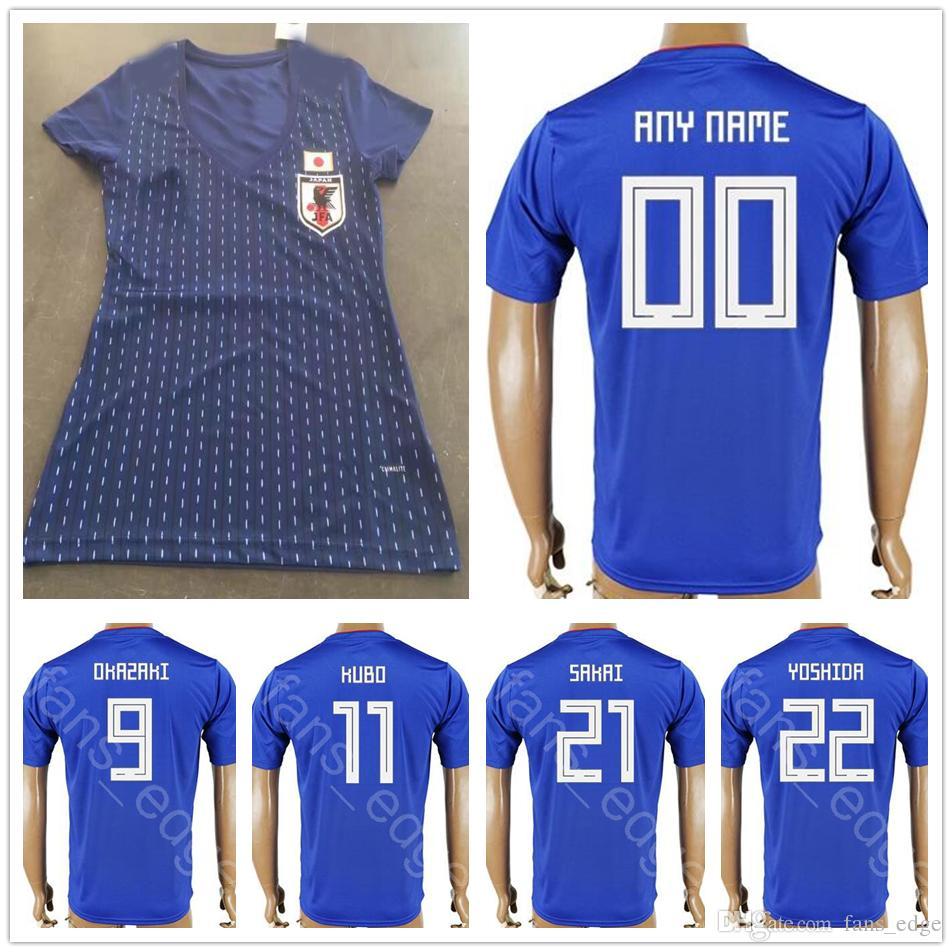 41f5f27ebf5 2019 2018 Women Men Japan Soccer Jerseys 9 OKAZAKI 10 KAGAWA MORISHIGE  HASEBE TOSHIDA Custom Woman Man Kids Youth Home Blue Football Shirt From  Fans edge