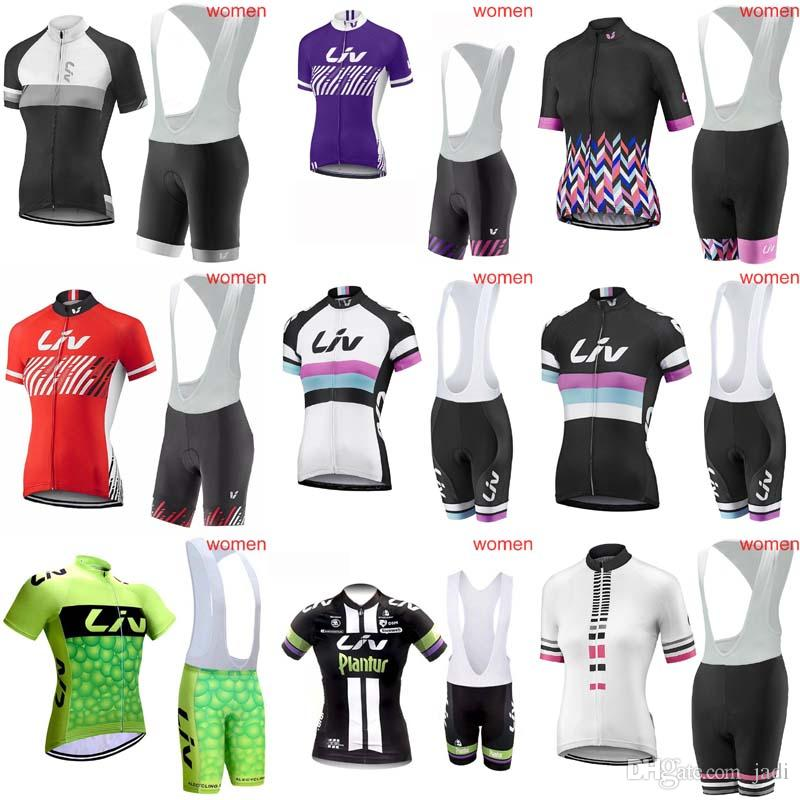 2018 New Hot Pro Team LIV Women Cycling Clothing Short Sleeve Top Cycling Jersey MTB Bib Shorts set Maillot Ciclismo Ropa Clothes C1911