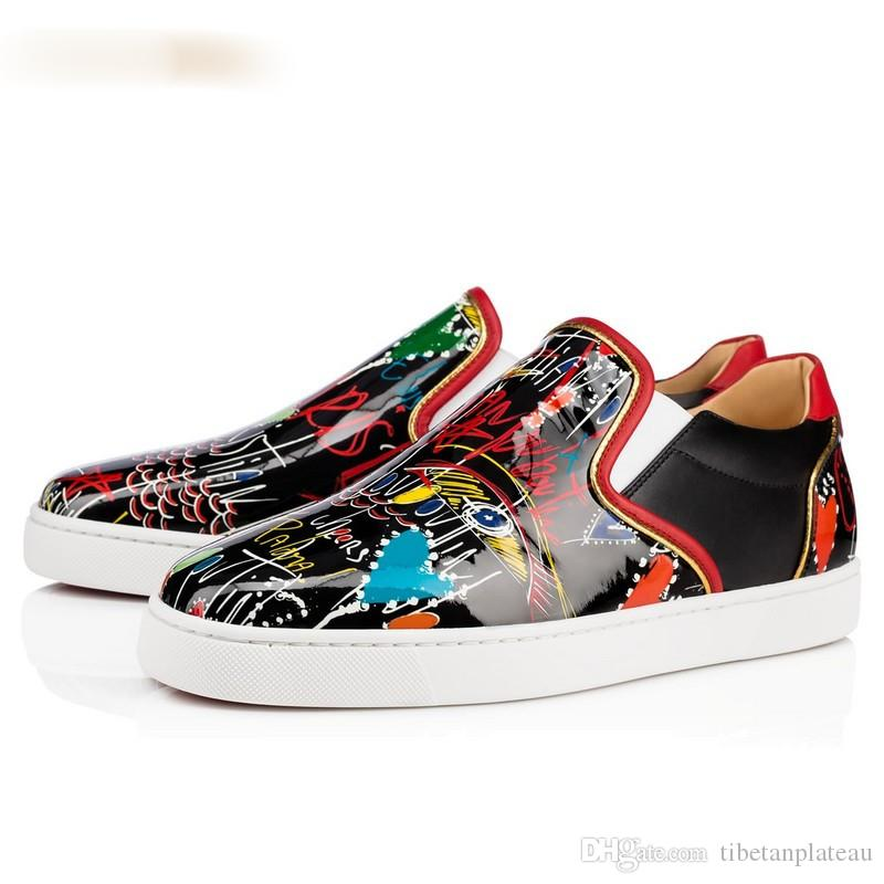 Men's Casual Shoes Shoes New Spring Men Street Graffiti Printing Comfortable Casual Flats Shoes Male Dress Prom Hip-hop Skateboard Shoes Zapatos Hombre