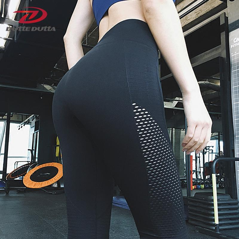 bc55d971deed9 2018 Nets Mesh Fitness Yoga Pants For Women High Waist Moda Workout  Leggings Sport Women's Tights Running Leggins Active Wear