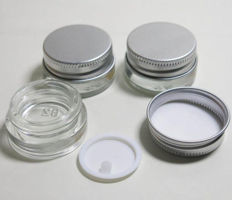 5 г пустой стеклянный крем банку с алюминиевой крышкой,5 мл широкий рот косметический контейнер,глаз крем косметическая упаковка бутылка LX1196