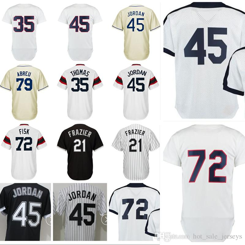 buy online d1a4f 20d2d Men's #45 Michael 79 Jose Abreu 35 Frank Thomas Jersey High quality 100%  stitched Embroidery Baseball Jerseys Cheap sales