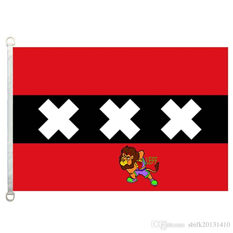 Amsterdam flag,90*150CM ,100% polyester, banner,Digital Printing