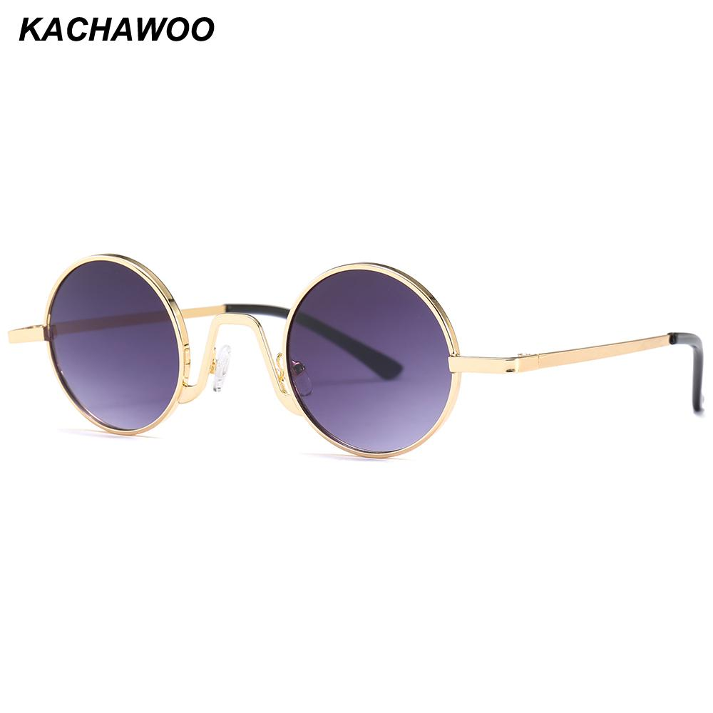 abbd89d73a Kachawoo Small Round Sunglasses Men 2018 Summer Metal Frame Red Gold Black  Retro Vintage Sun Glasses for Women UV400 Sunglasses Cheap Sunglasses  Kachawoo ...