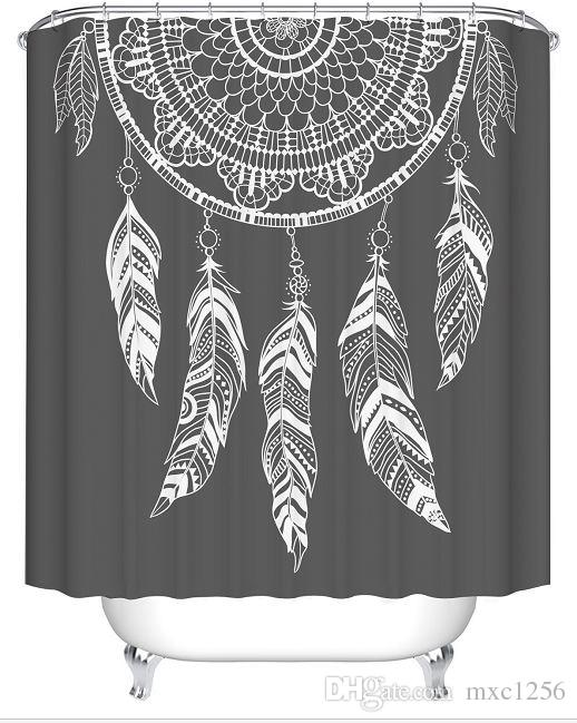 2019 DREAM CATCHER Bathroom Cartoon Shower CurtainsFabric CurtainThin Curtain12 Hooks12 RingsWaterproof180cm 7171 From Mxc1256 1608
